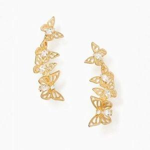 NEW Kate Spade KS Butterflies Gold Climber Earring